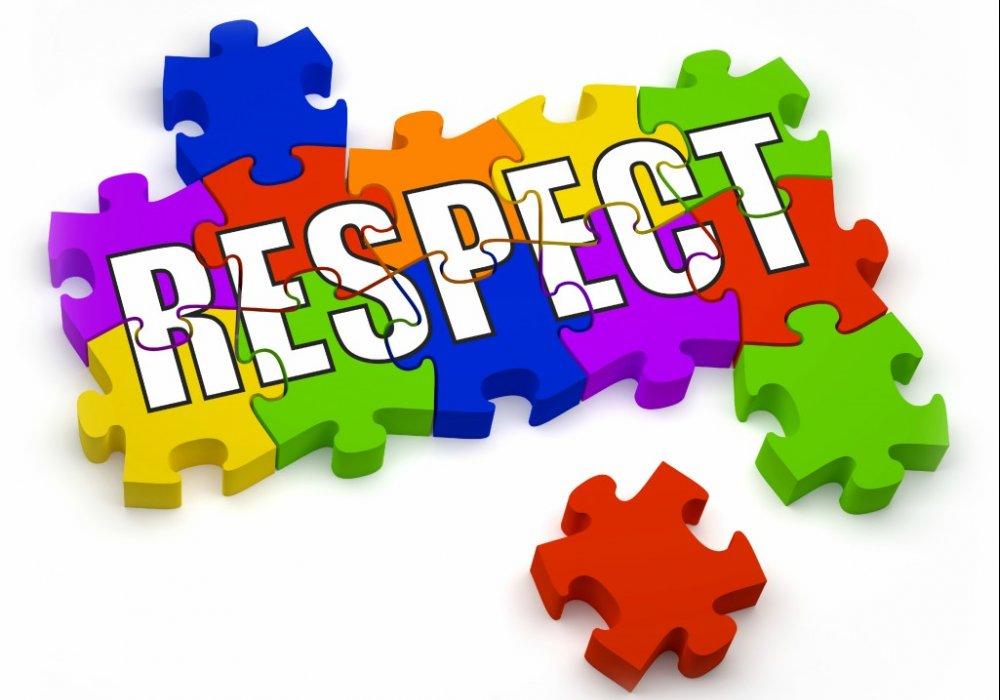 RESPECT VOOR ELKAAR A.U.B.!